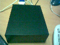 The cool black mini case that the Efika is shipped with